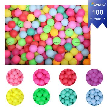Orange, White KEVENZ 144-Pack 3-Star 40mm Table Tennis Balls,Advanced Training Ping Pong Balls