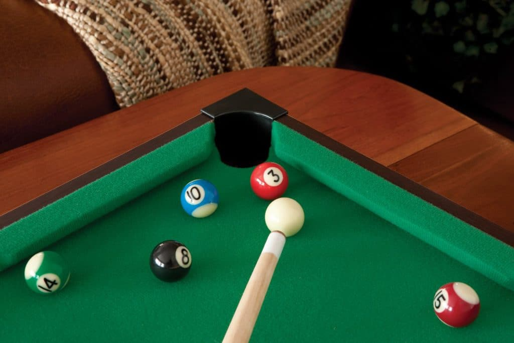 5 Compact Mini Pool Tables - Fun Playfield for Kids and Adults
